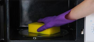 Что нужно учесть при очистке микроволновки