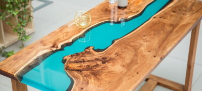 Описание и изготовление стола из эпоксидной смолы