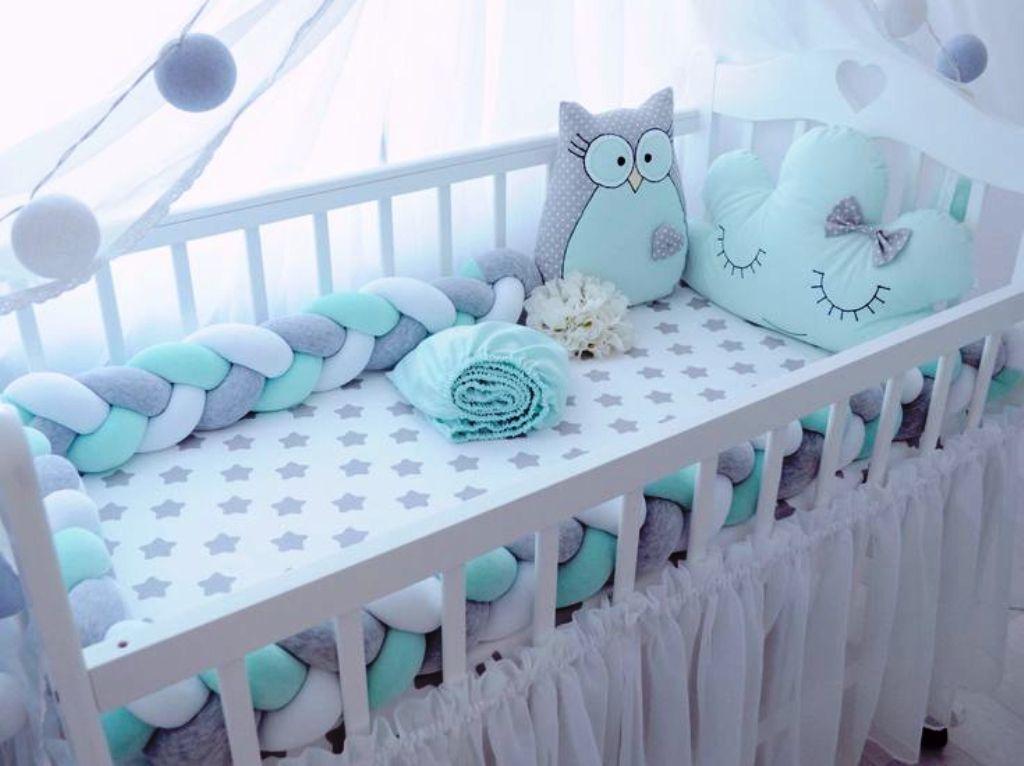 бортики косичка в детскую кроватку