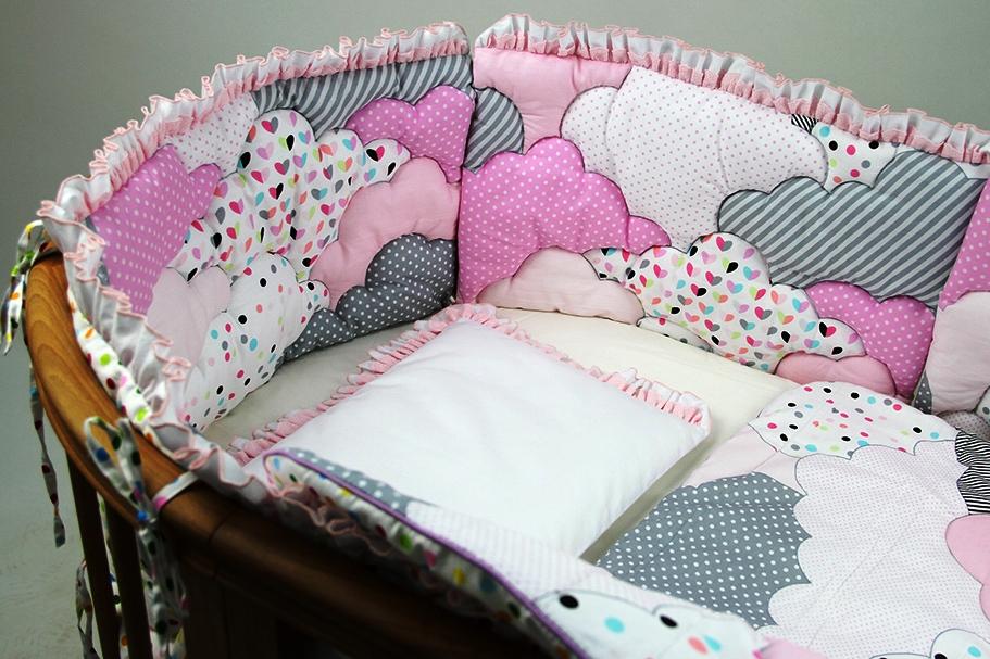 бортики облачка в кроватку