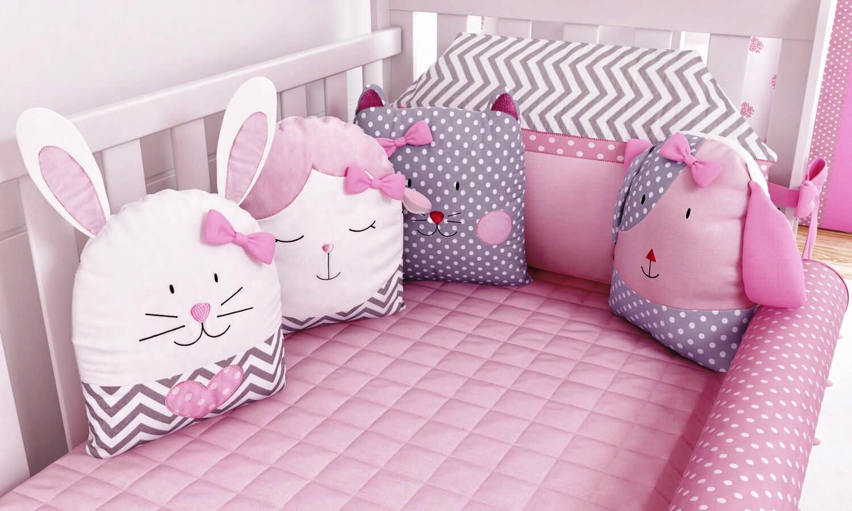 бортики в кроватку для новорожденных зверушки