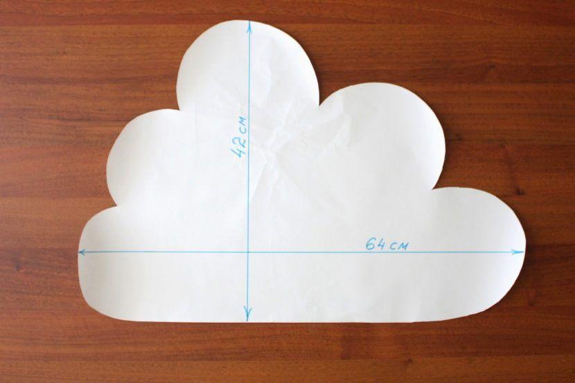 бортики в кроватку выкройка облако
