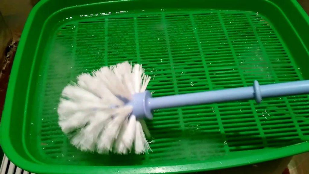 чистка лотка белизной