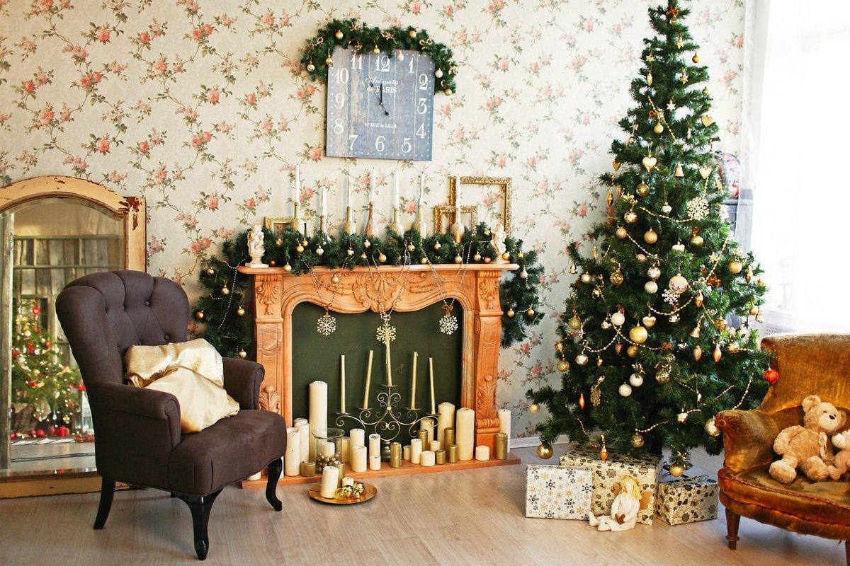 декор новогодней ёлки фото