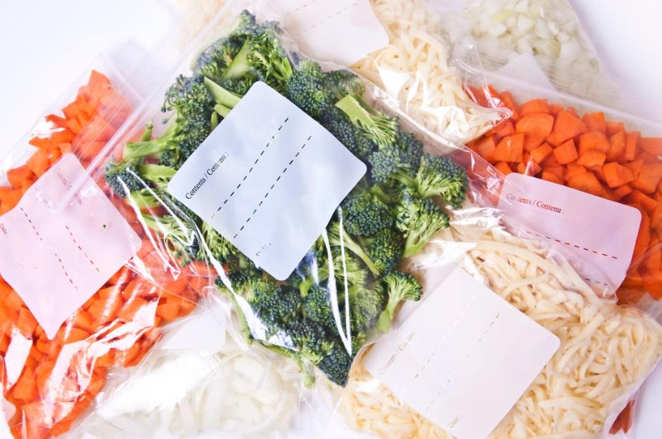 герметичные пакеты с продуктами