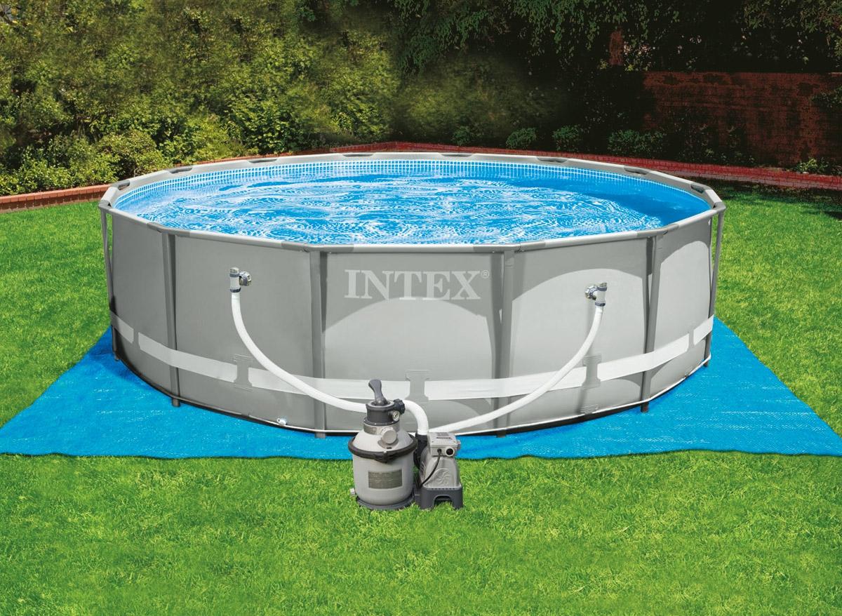 каркасный бассейн интекс
