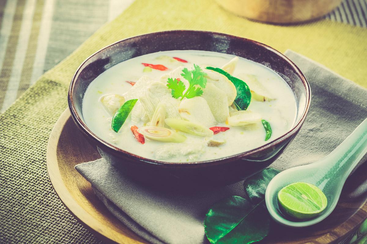кокосовый суп с курицей