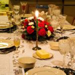 красивая сервировка стола к празднику