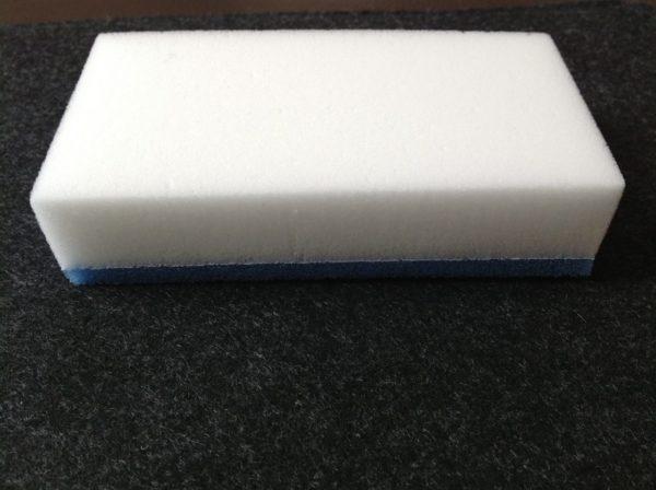 По химическому составу продукт состоит из вспененного меламина.