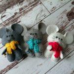 мыши из фетра