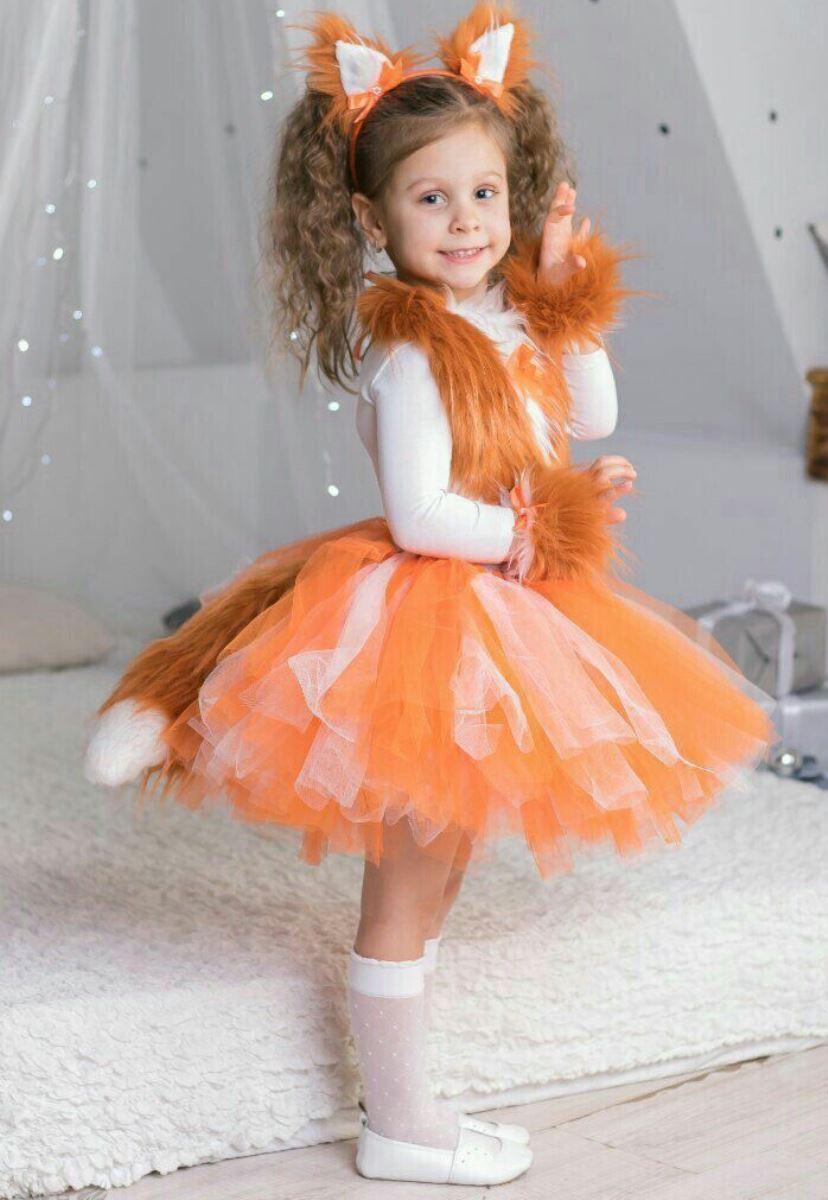 новогодний костюм для девочки лиса фото