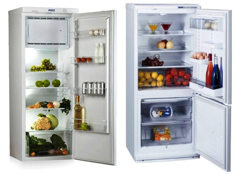однокамерный и двухкамерный холодильники