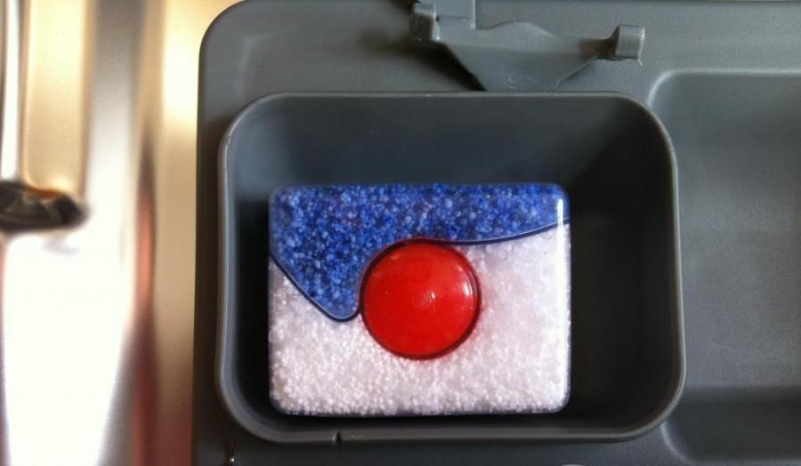 отсек для таблеток в посудомоечной машине