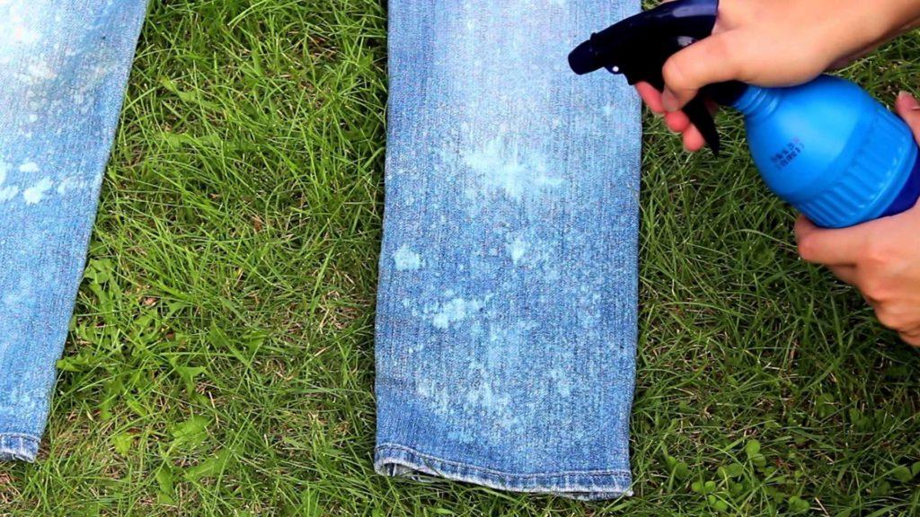 отстирать траву с джинсов