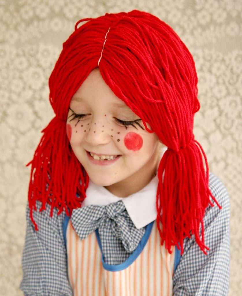 парик куклы для девочки