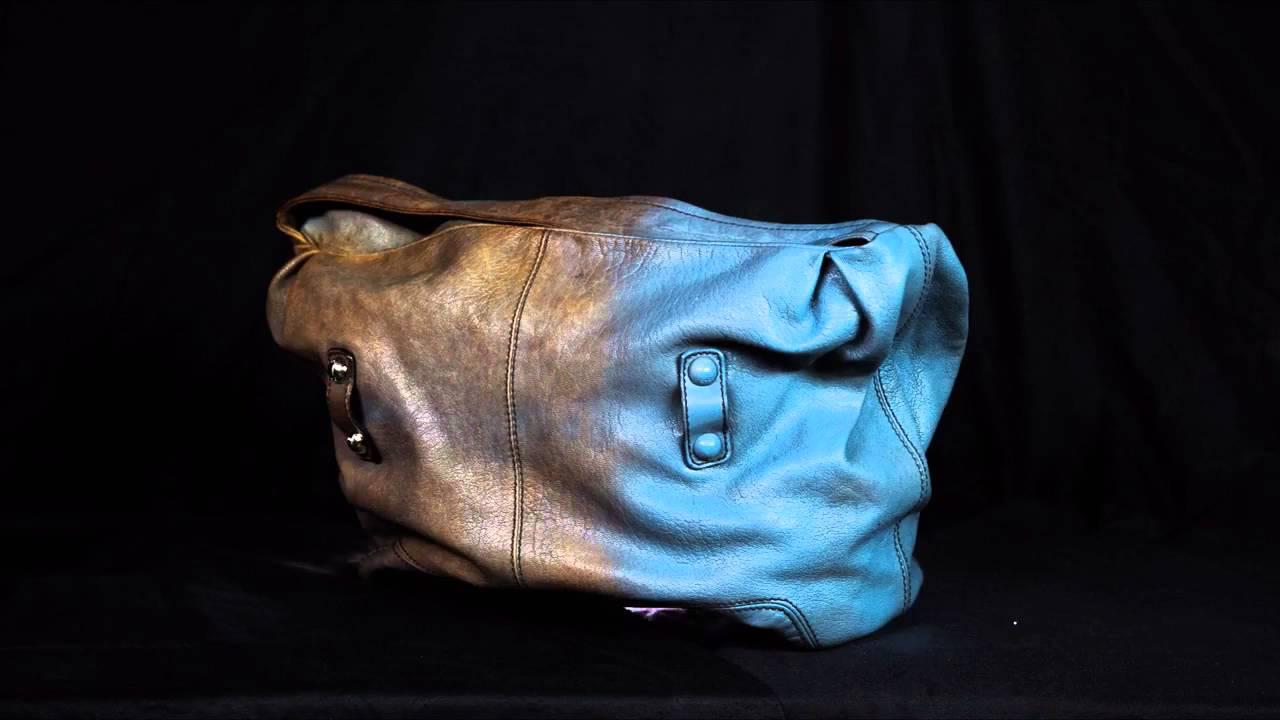 перекраска кожаной сумки
