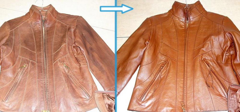 покраска кожаной куртки своими руками