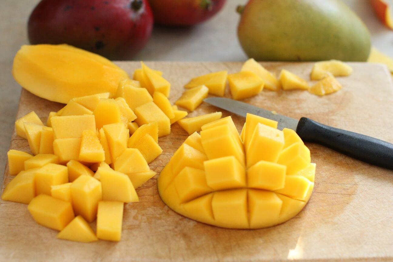 порезанный манго