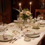 сервировка стола на ужин
