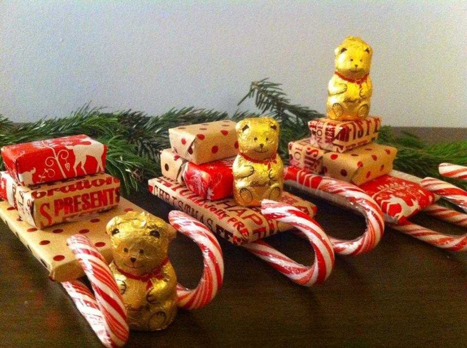 новогодние сладкие сани