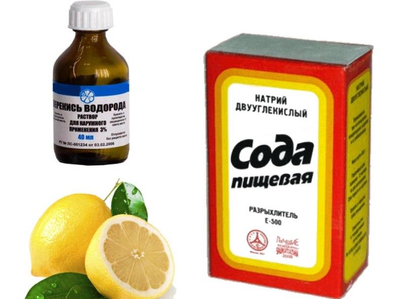 сода лимонная кислота перекись для отбеливания