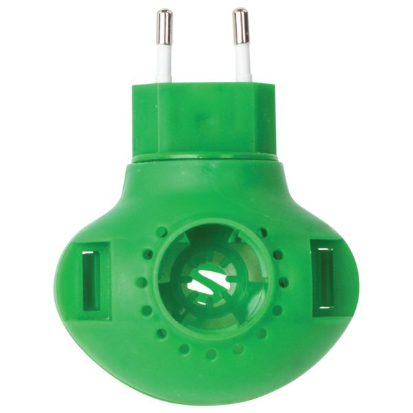 Представляет собой прибор, который работает за счет флакона, розетки и жидкости.