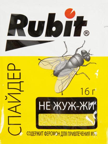 Спрессованные ядовитые крупинки помогут убить мух за неделю.