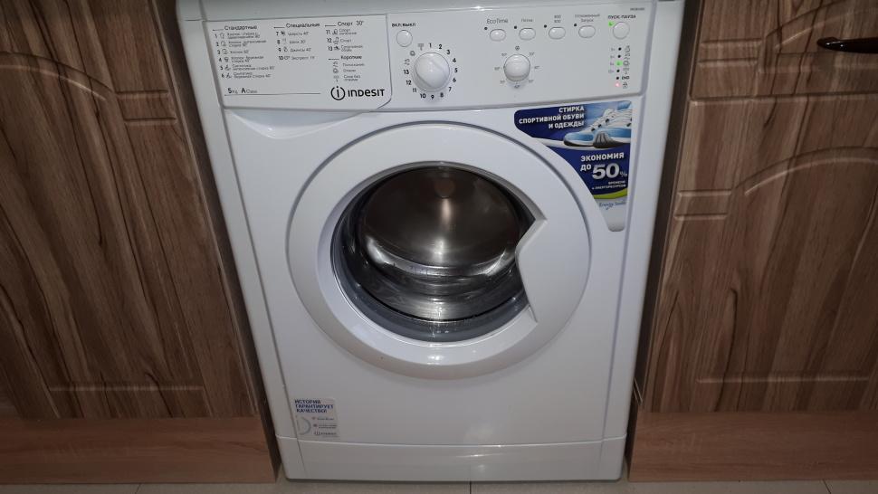 стиральная машина индезит на кухне