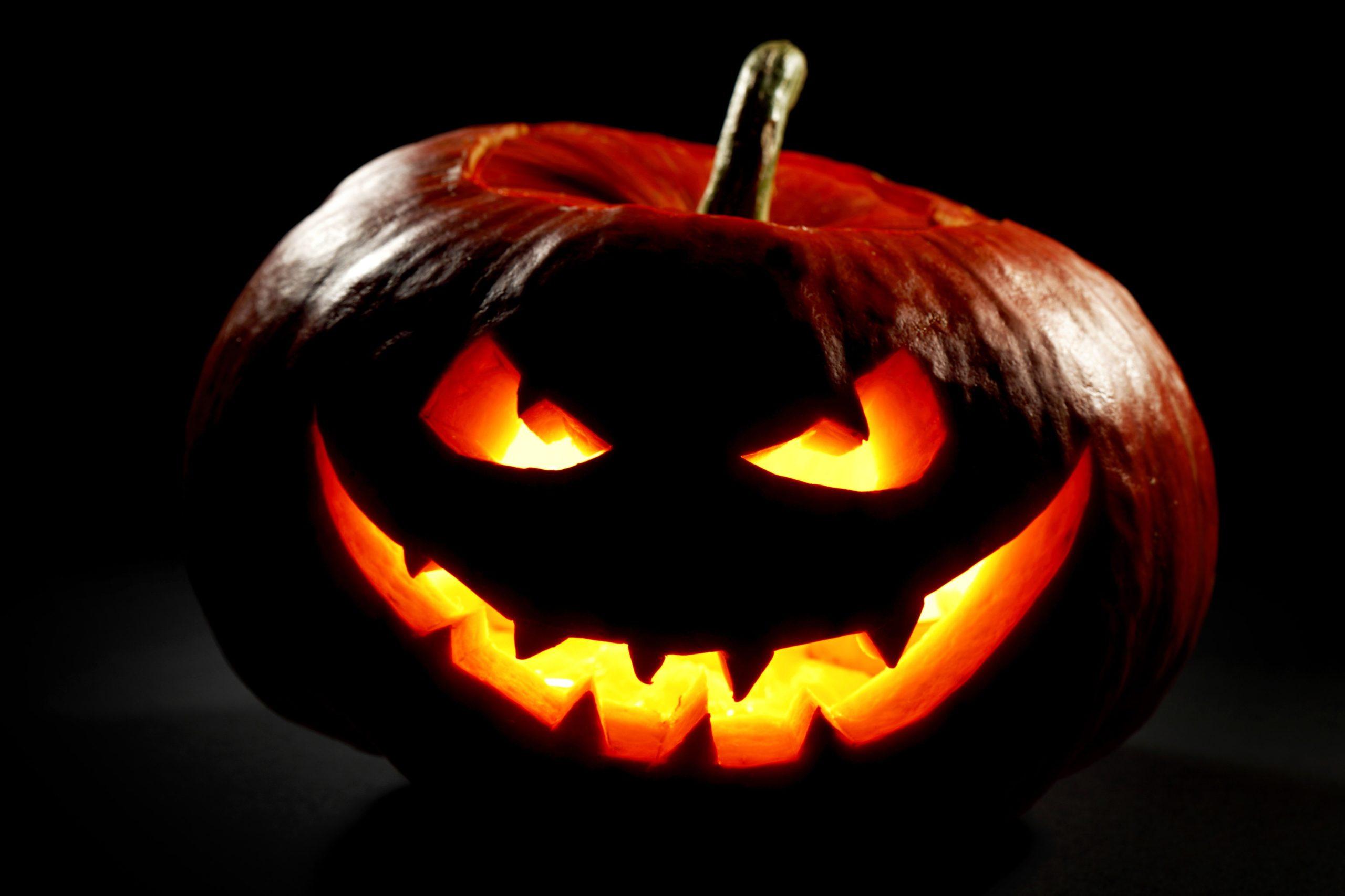 тыква на хэллоуин страшная