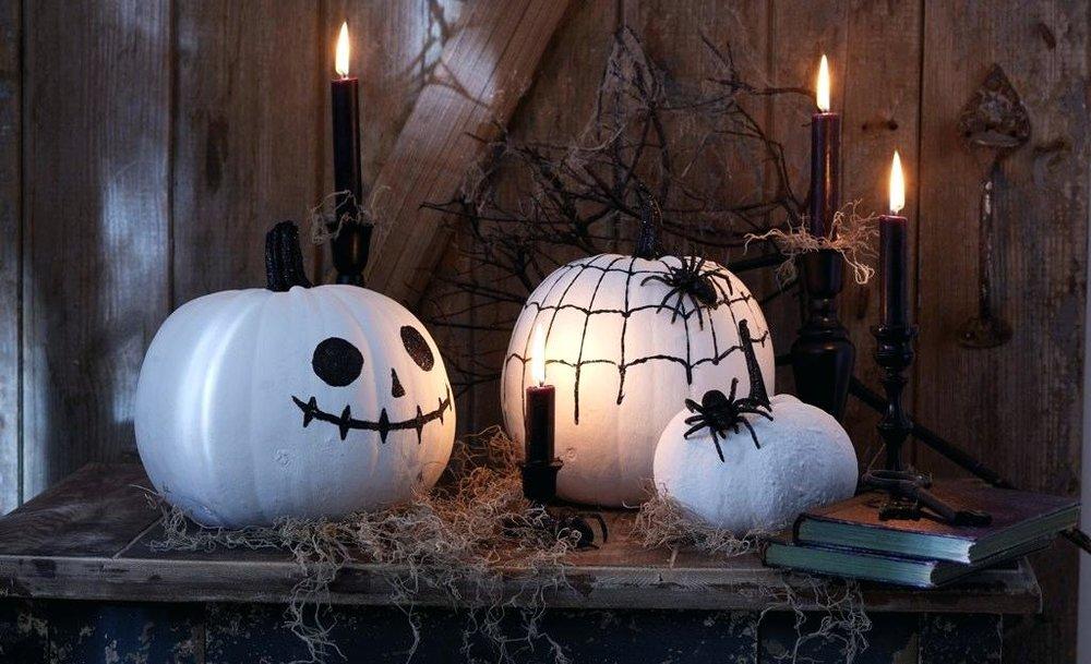 белые тыквы на хэллоуин