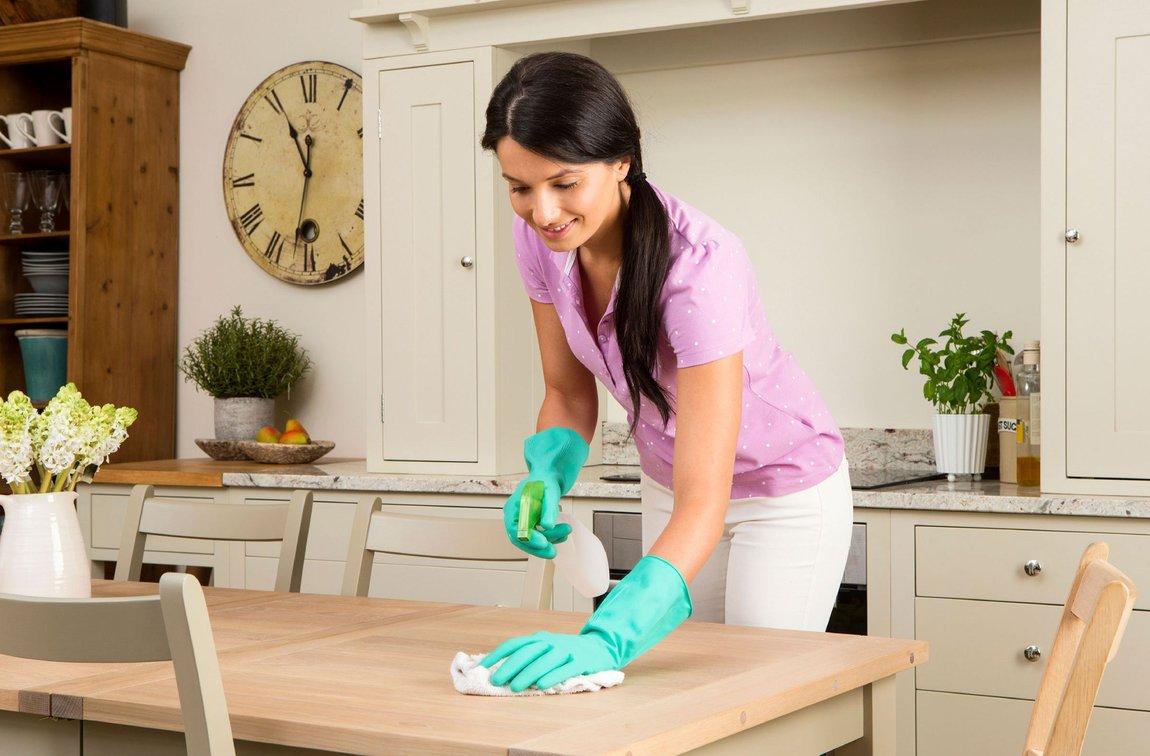 уборка на кухне фото
