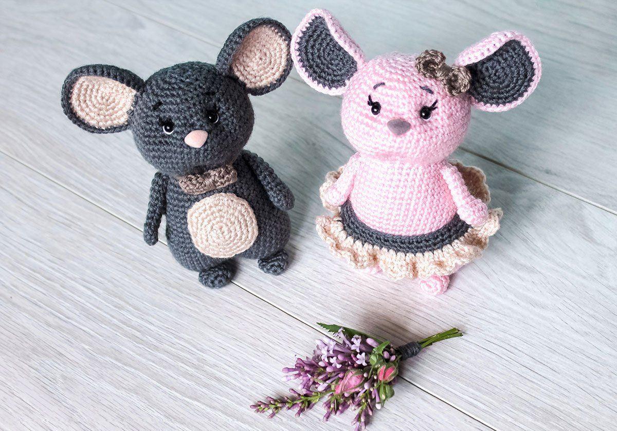 вязаные мышки