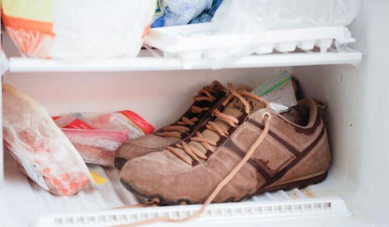 заморозить обувь