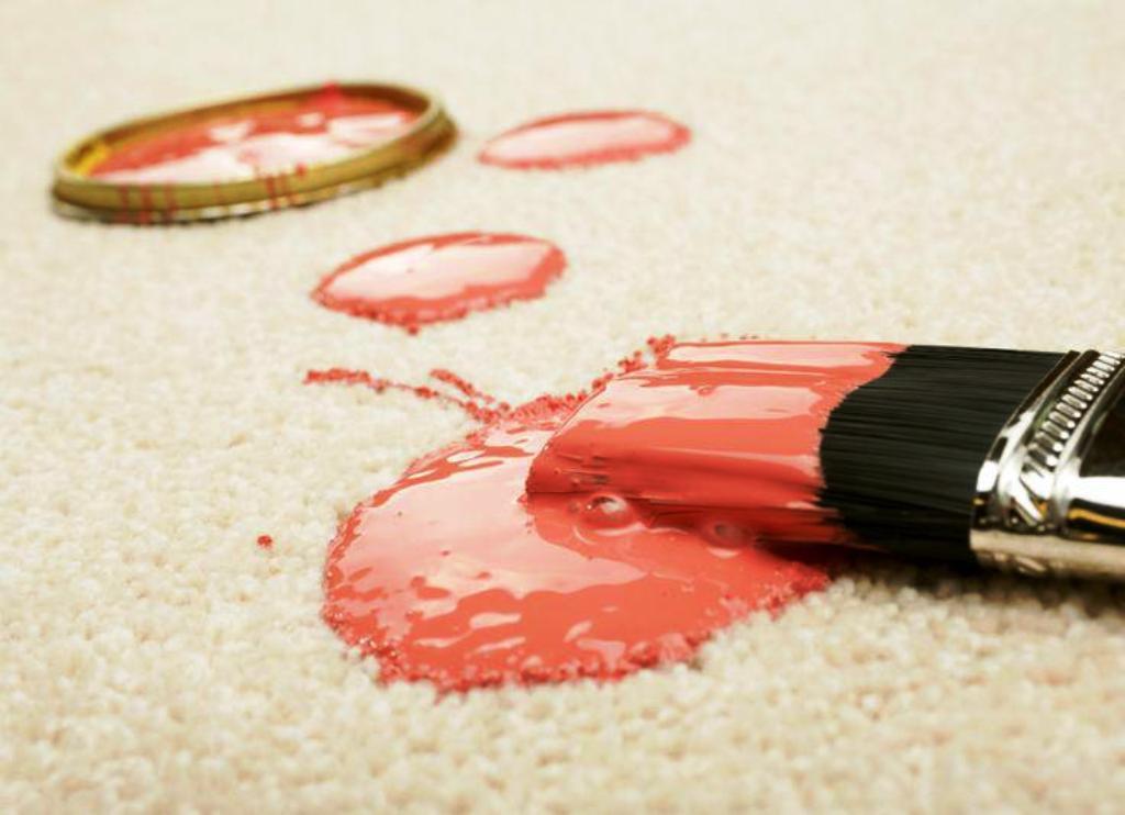 чистка ковра от краски