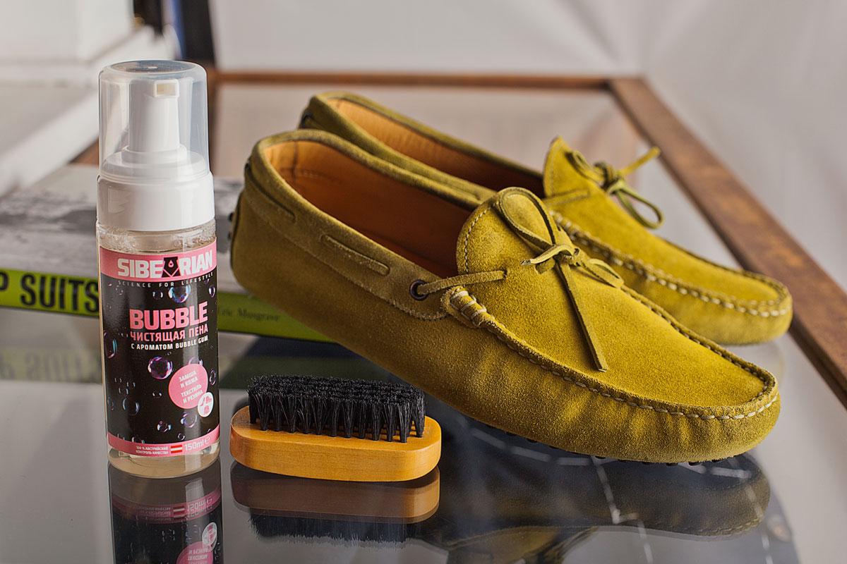 чистка замшевой обуви пеной фото