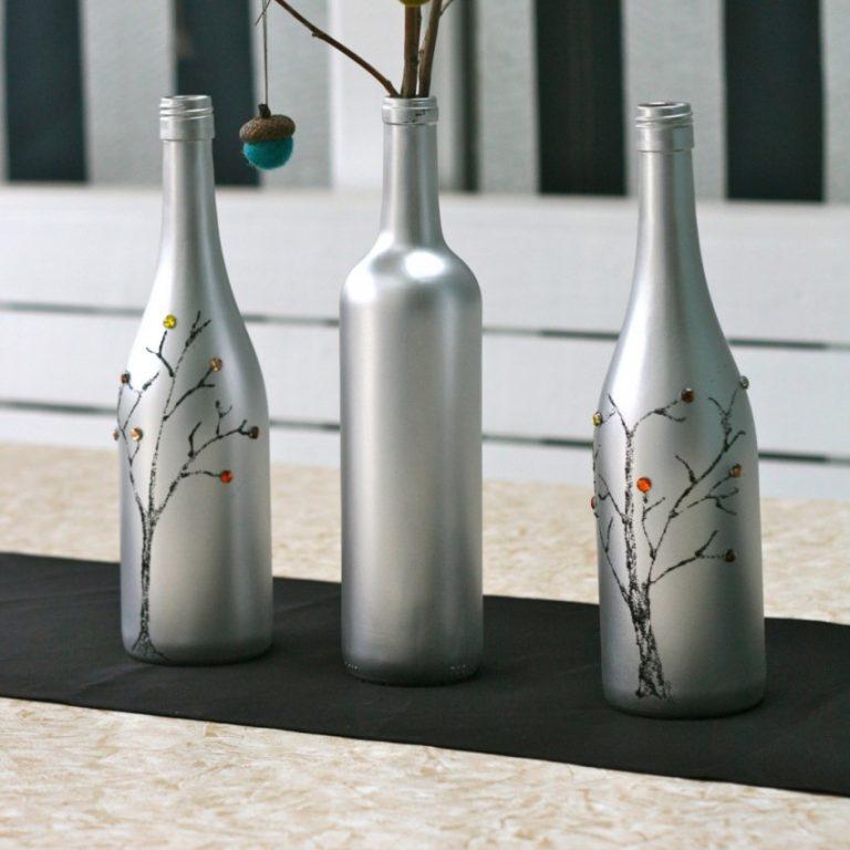 Дизайн бутылок своими руками фото если проявить
