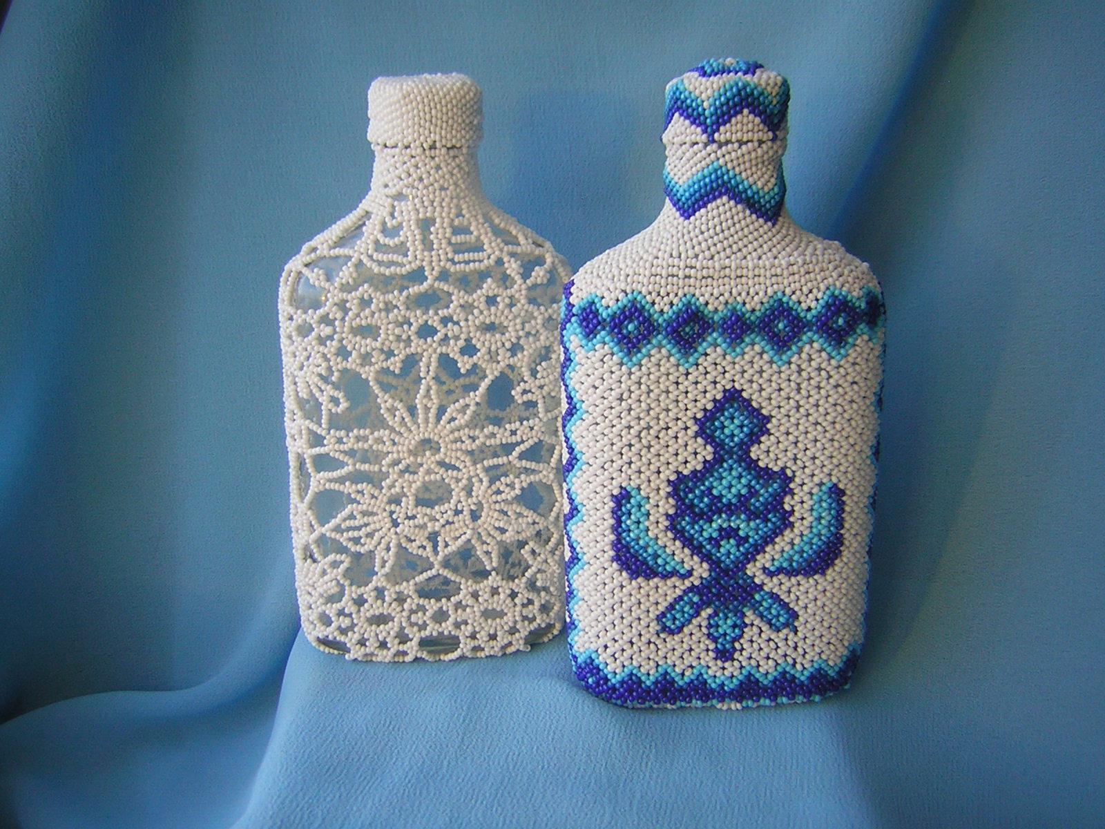 декор бутылок бисером