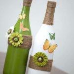 декор бутылок дизайн фото