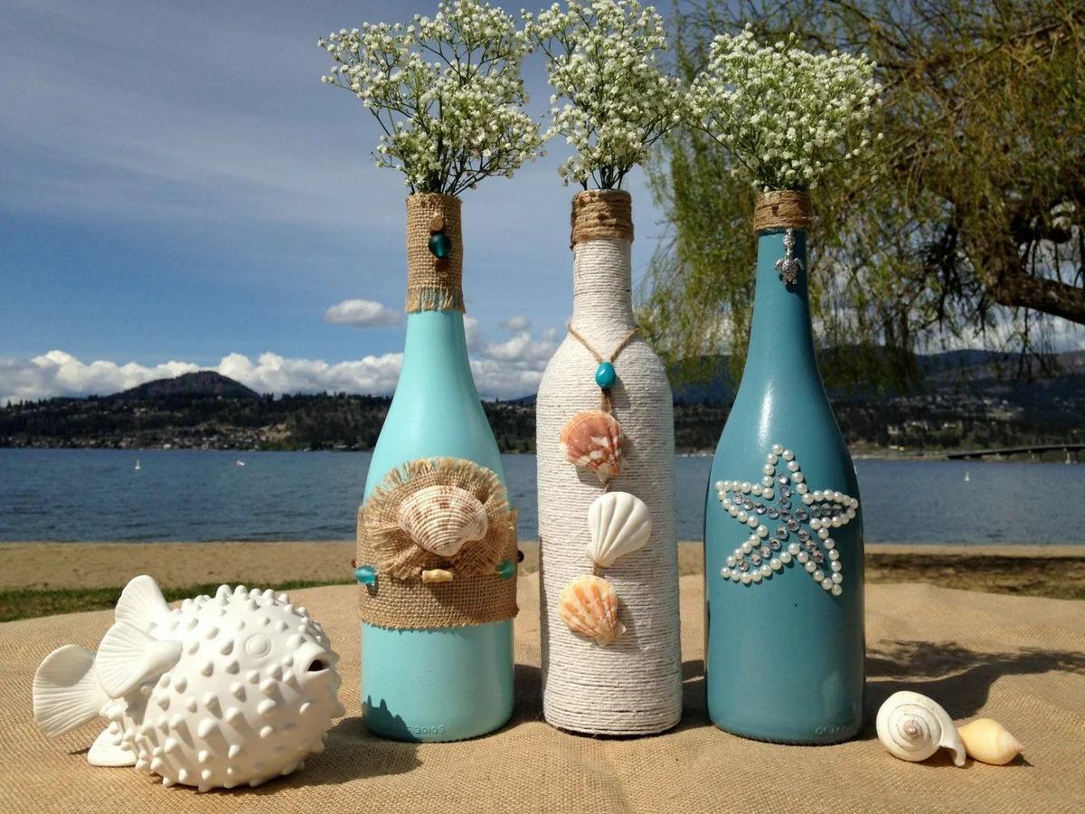 декор бутылок фото