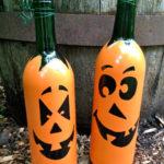 декор бутылок на хэллоуин