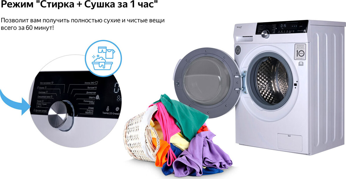 инверторный двигатель в стиральной машине сухое белье