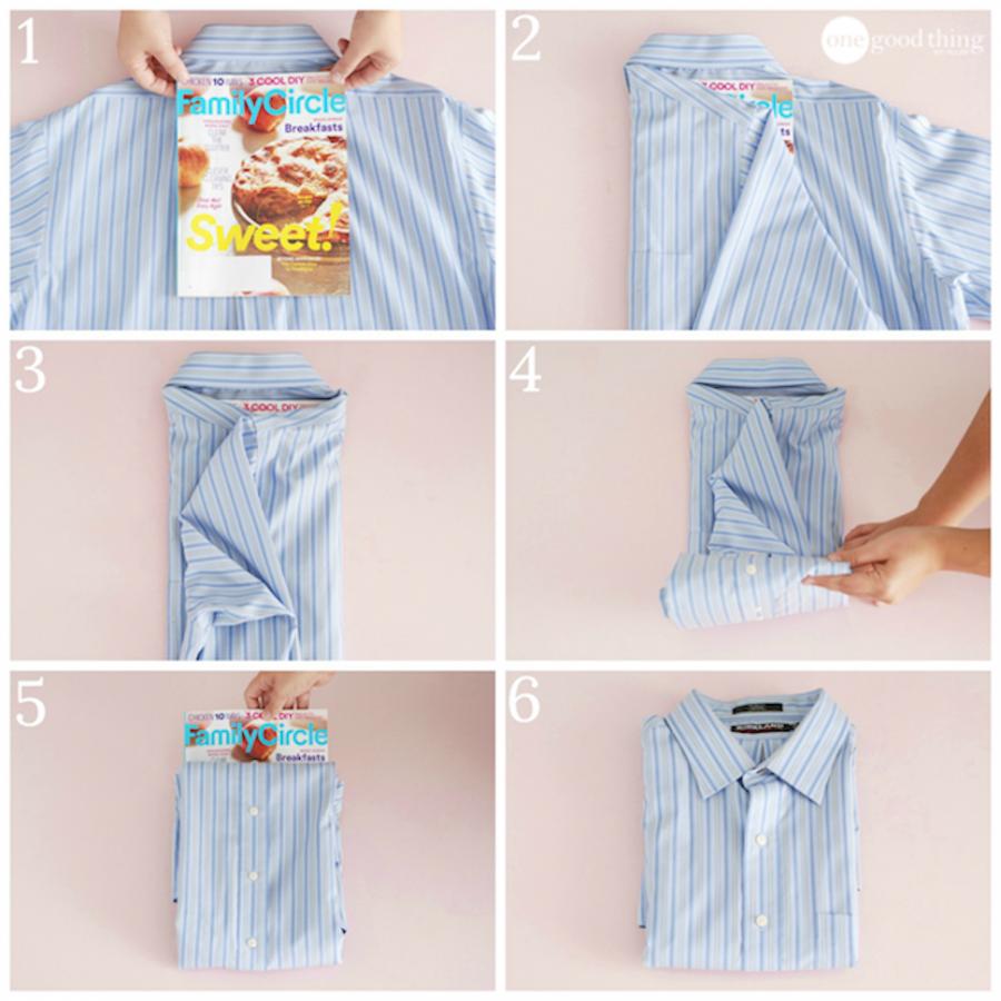 как можно сложить рубашку фото