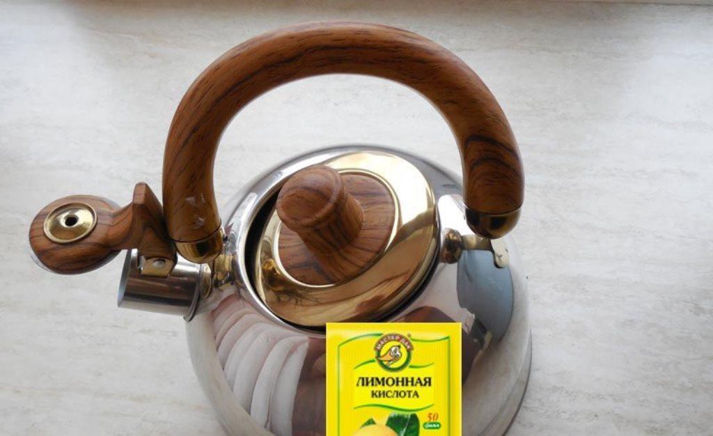 как правильно чистить чайник лимонной кислотой