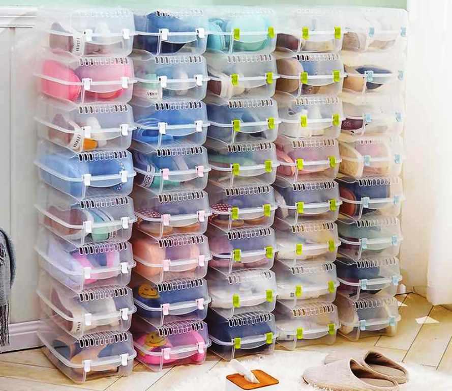 контейнеры из пластика для обуви