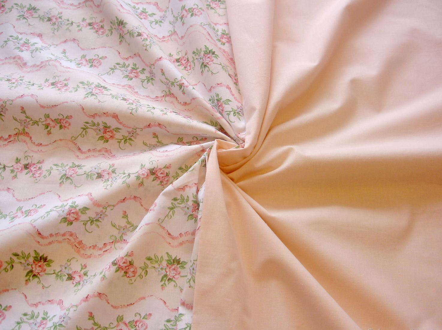 перкаль ткань персиковая
