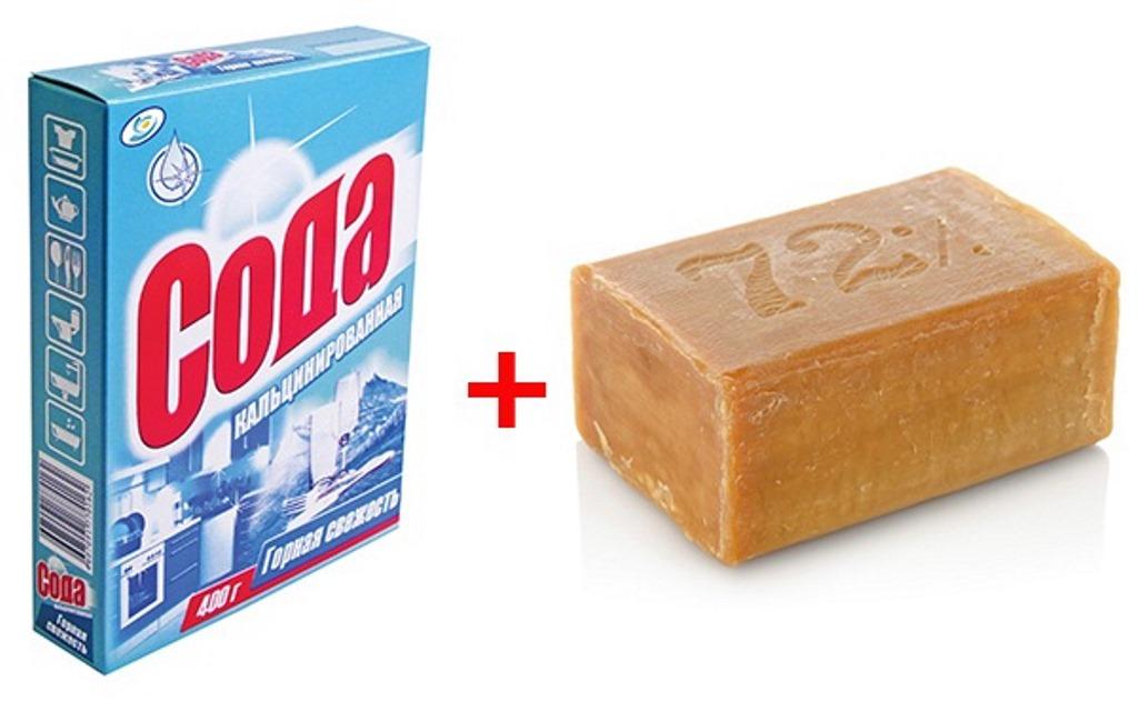 мыло с содой