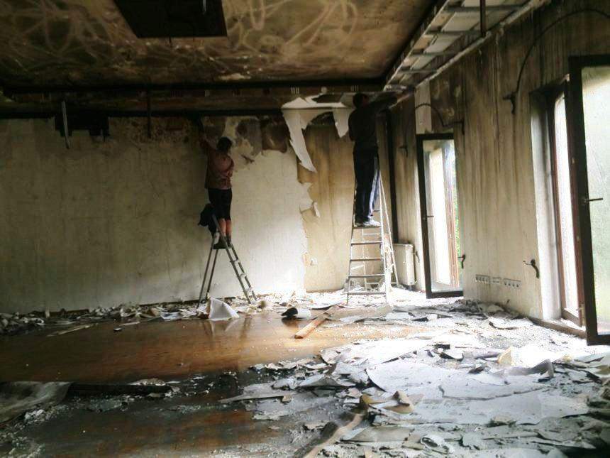 отмыть дом после пожара