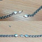 починка цепочки серебряной
