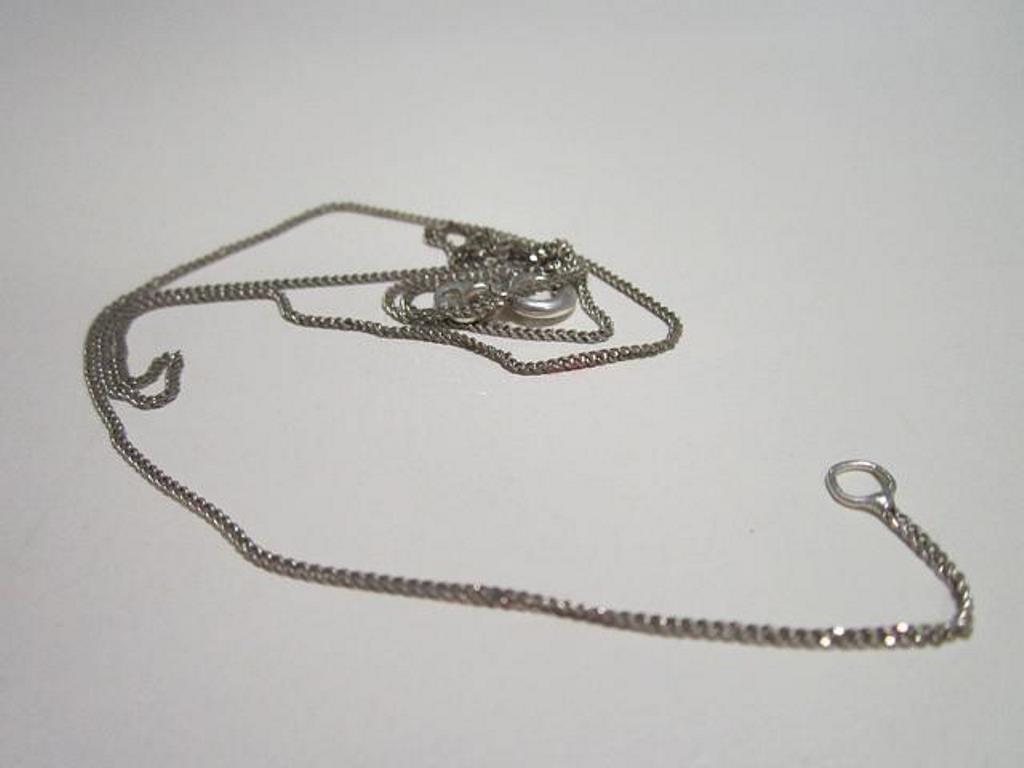 серебряная цепочка после чистки