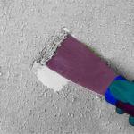 снятие краски шпателем